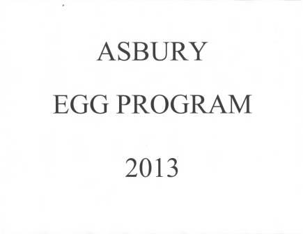 Asbury Egg program 2013